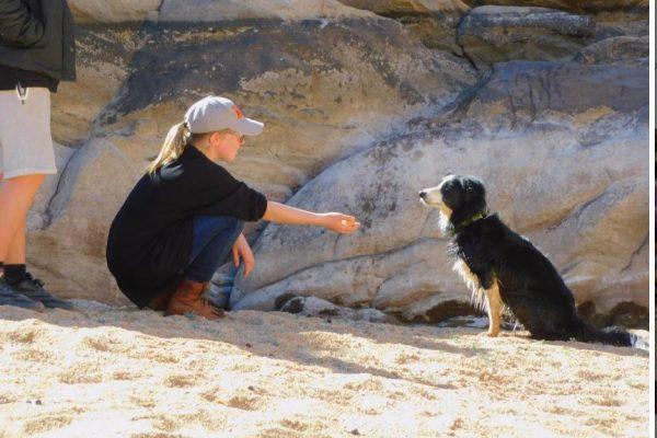 Kids Camp girl with dog